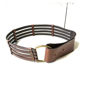 BR    Brown Leather Belt with Brass  Buckle